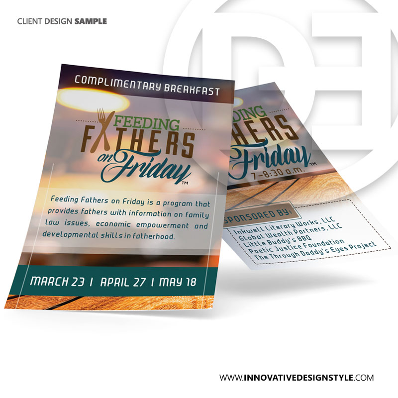 Feeding Fathers on Friday Flyer Design