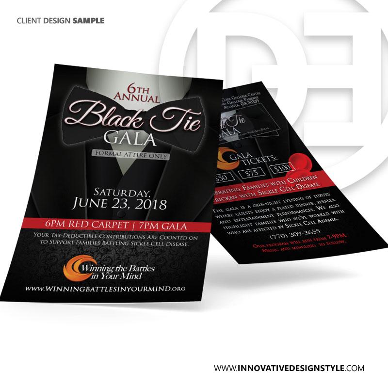 Black Tie Gala 2018 Flyer Design